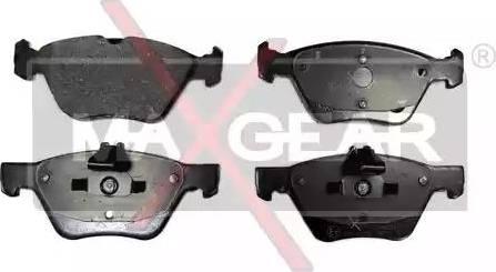 Maxgear 19-0631 - Piduriklotsi komplekt,ketaspidur multiparts.ee