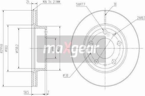 Maxgear 19-0799MAX - Piduriketas multiparts.ee