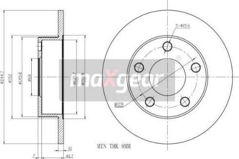 Maxgear 19-0756MAX - Piduriketas multiparts.ee