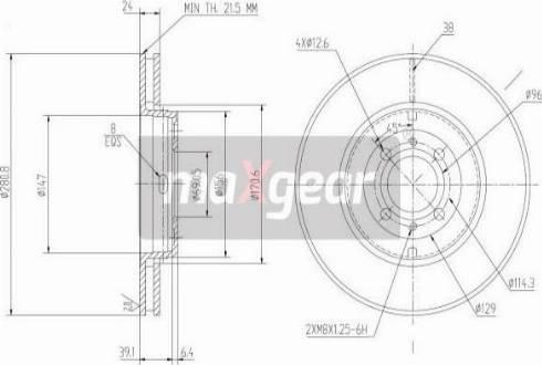 Maxgear 19-0734MAX - Piduriketas multiparts.ee