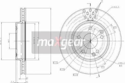 Maxgear 19-0725MAX - Piduriketas multiparts.ee