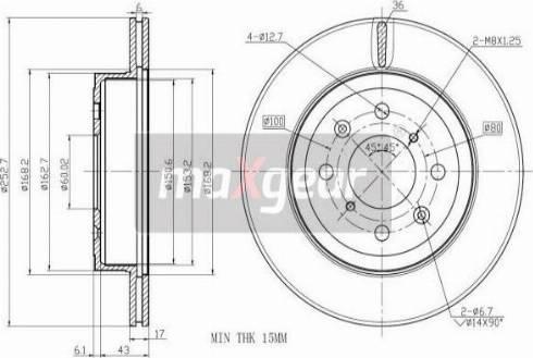 Maxgear 19-1045MAX - Piduriketas multiparts.ee