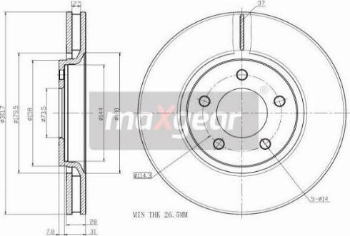 Maxgear 19-1054MAX - Piduriketas multiparts.ee
