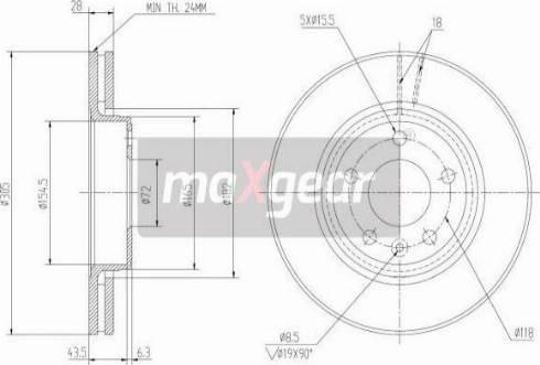 Maxgear 19-1009MAX - Piduriketas multiparts.ee