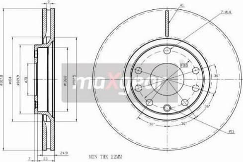 Maxgear 19-1019MAX - Piduriketas multiparts.ee