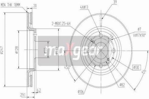 Maxgear 19-1844MAX - Piduriketas multiparts.ee