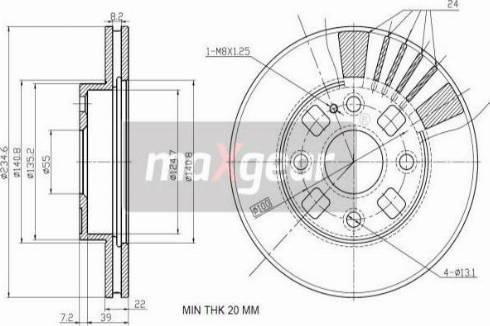 Maxgear 19-2540 - Piduriketas multiparts.ee