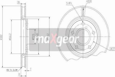 Maxgear 19-2274MAX - Piduriketas multiparts.ee