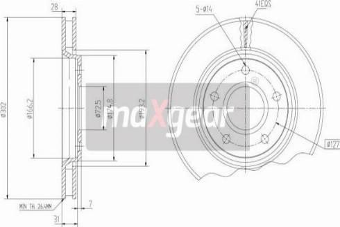 Maxgear 19-2274 - Piduriketas multiparts.ee