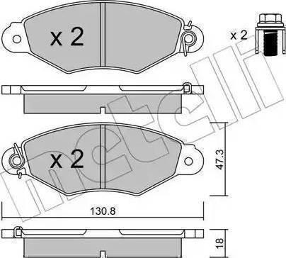 LPR 05P662 - Piduriklotsi komplekt,ketaspidur multiparts.ee