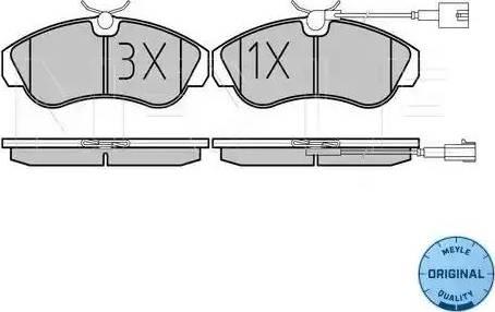 Meyle 025 236 0319/W - Piduriklotsi komplekt,ketaspidur multiparts.ee
