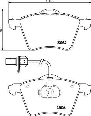 Mintex MDB1954 - Piduriklotsi komplekt,ketaspidur multiparts.ee