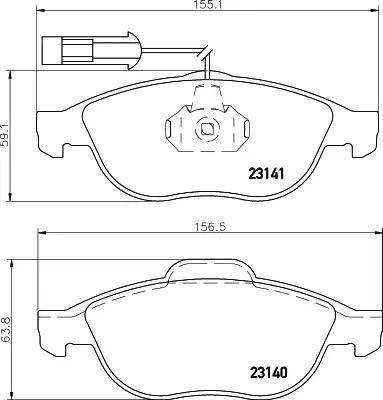 Mintex MDB1934 - Piduriklotsi komplekt,ketaspidur multiparts.ee