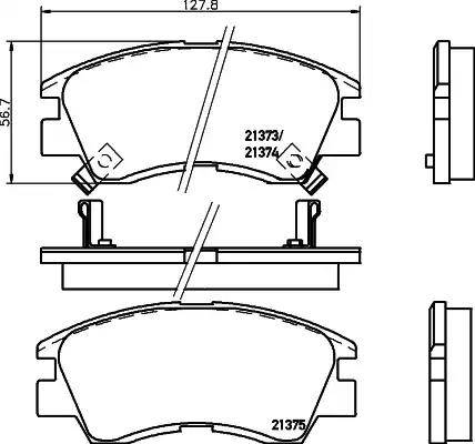 Mintex MDB1446 - Piduriklotsi komplekt,ketaspidur multiparts.ee