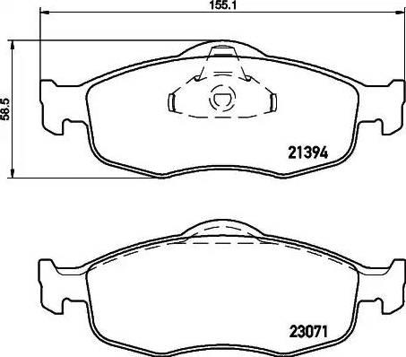 Mintex MDB1620 - Piduriklotsi komplekt,ketaspidur multiparts.ee
