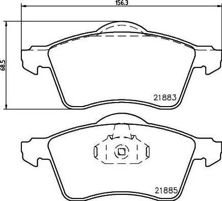 Mintex MDB1814 - Piduriklotsi komplekt,ketaspidur multiparts.ee