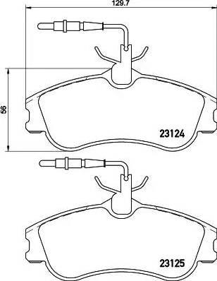 Mintex MDB1812 - Piduriklotsi komplekt,ketaspidur multiparts.ee