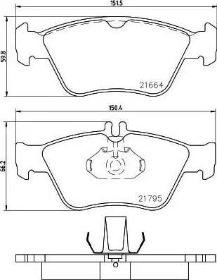 Mintex MDB1736 - Piduriklotsi komplekt,ketaspidur multiparts.ee
