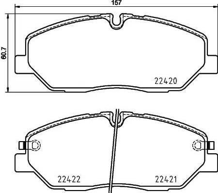 Mintex MDB3931 - Piduriklotsi komplekt,ketaspidur multiparts.ee