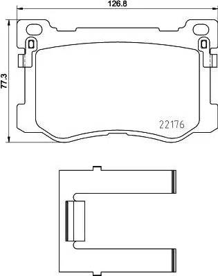 Mintex MDB3724 - Piduriklotsi komplekt,ketaspidur multiparts.ee
