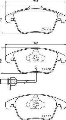 Mintex MDB2952 - Piduriklotsi komplekt,ketaspidur multiparts.ee
