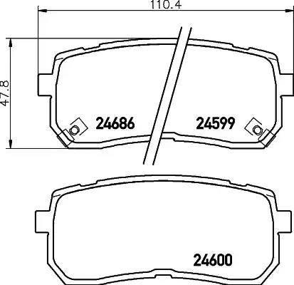 Mintex MDB2922 - Piduriklotsi komplekt,ketaspidur multiparts.ee