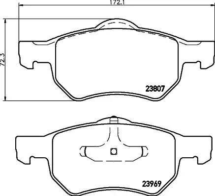Mintex MDB2565 - Piduriklotsi komplekt,ketaspidur multiparts.ee