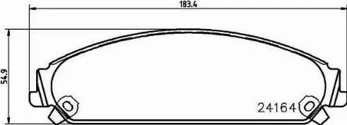 Mintex MDB2696 - Piduriklotsi komplekt,ketaspidur multiparts.ee