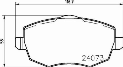 Mintex MDB2656 - Piduriklotsi komplekt,ketaspidur multiparts.ee