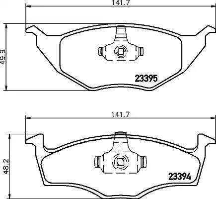 Mintex MDB2057 - Piduriklotsi komplekt,ketaspidur multiparts.ee
