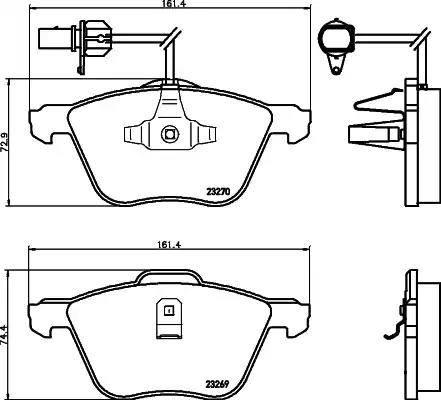Mintex MDB2126 - Piduriklotsi komplekt,ketaspidur multiparts.ee