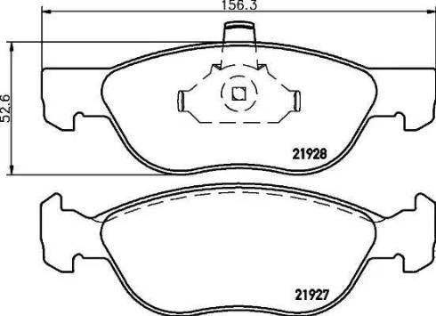 Mintex MDB2123 - Piduriklotsi komplekt,ketaspidur multiparts.ee