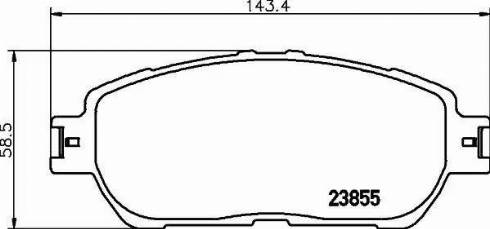 Mintex MDB2311 - Piduriklotsi komplekt,ketaspidur multiparts.ee