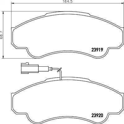 Mintex MDB2329 - Piduriklotsi komplekt,ketaspidur multiparts.ee