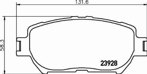 Mintex MDB2263 - Piduriklotsi komplekt,ketaspidur multiparts.ee
