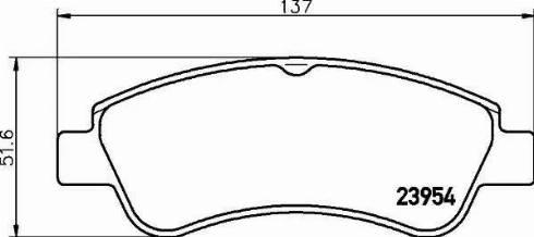 Mintex MDB2283 - Piduriklotsi komplekt,ketaspidur multiparts.ee