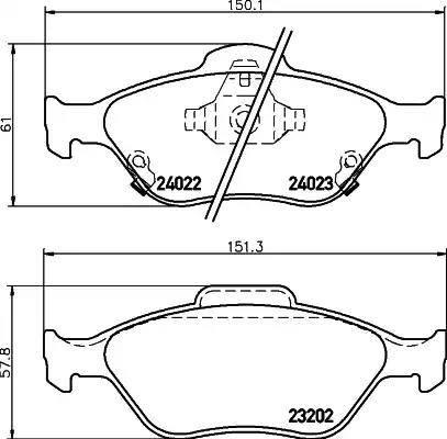 Mintex MDB2769 - Piduriklotsi komplekt,ketaspidur multiparts.ee