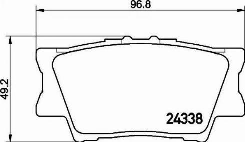 Mintex MDB2787 - Piduriklotsi komplekt,ketaspidur multiparts.ee