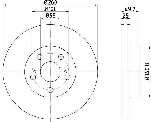Mintex MDC1068 - Piduriketas multiparts.ee