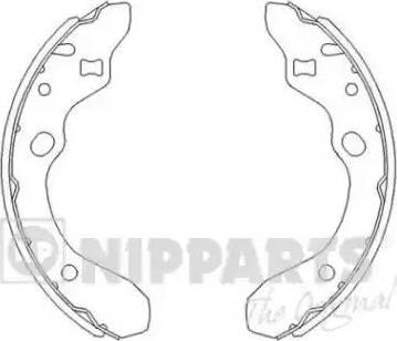 Nipparts J3503036 - Piduriklotside komplekt multiparts.ee