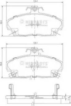 Nipparts J3604031 - Piduriklotsi komplekt,ketaspidur multiparts.ee