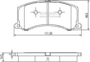 Nipparts J3608016 - Piduriklotsi komplekt,ketaspidur multiparts.ee