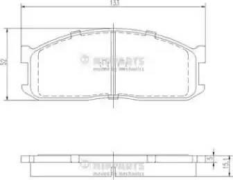 Nipparts J3603025 - Piduriklotsi komplekt,ketaspidur multiparts.ee