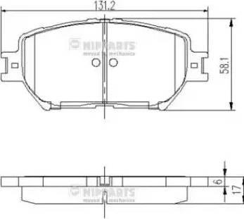 Nipparts J3602099 - Piduriklotsi komplekt,ketaspidur multiparts.ee