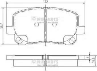 Nipparts J3602096 - Piduriklotsi komplekt,ketaspidur multiparts.ee