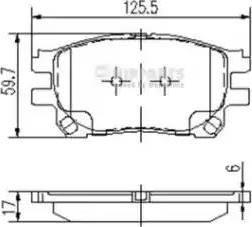 Nipparts J3602119 - Piduriklotsi komplekt,ketaspidur multiparts.ee