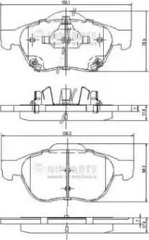 Nipparts J3602115 - Piduriklotsi komplekt,ketaspidur multiparts.ee