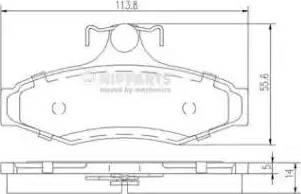 Nipparts J3610901 - Piduriklotsi komplekt,ketaspidur multiparts.ee