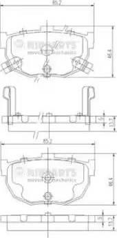 Nipparts J3610505 - Piduriklotsi komplekt,ketaspidur multiparts.ee