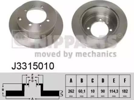 Nipparts J3315010 - Piduriketas multiparts.ee